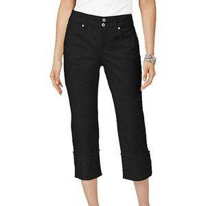 Style & Co Women Cuffed Hem Capri Jeans Stretch